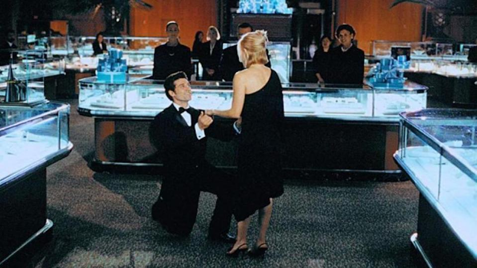 """<p>It's every girl's dream to have all of Tiffany & Co. closed to the public, then have someone who looks like Patrick Dempsey tell you to """"pick one"""" post-proposal. Melanie Carmichael (Reese Witherspoon) enjoyed this fantasy and our expectations will never be the same again.</p>"""
