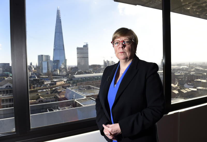 Director of Public Prosecutions, Alison Saunders, poses for a photograph in her office in London.