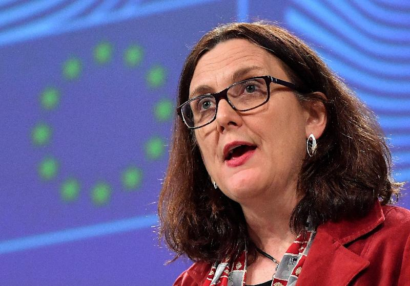 """EU trade minister Cecilia Malmstrom said she w""""ill now get in contact with our American partners with a view to organising a date for the first round as soon as possible"""" (AFP Photo/EMMANUEL DUNAND)"""