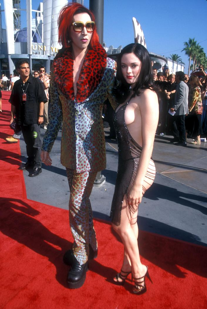 Marilyn Manson & Rose McGowan (Photo by Barry King/WireImage)