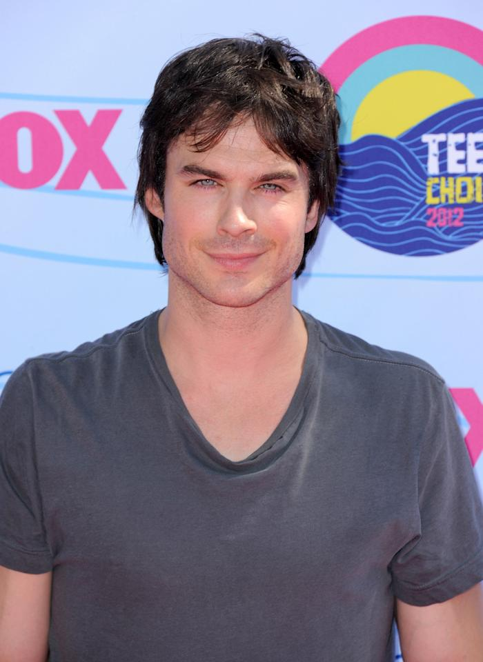 Ian Somerhalder arrives at the Teen Choice Awards on Sunday, July 22, 2012, in Universal City, Calif. (Photo by Jordan Strauss/Invision/AP)