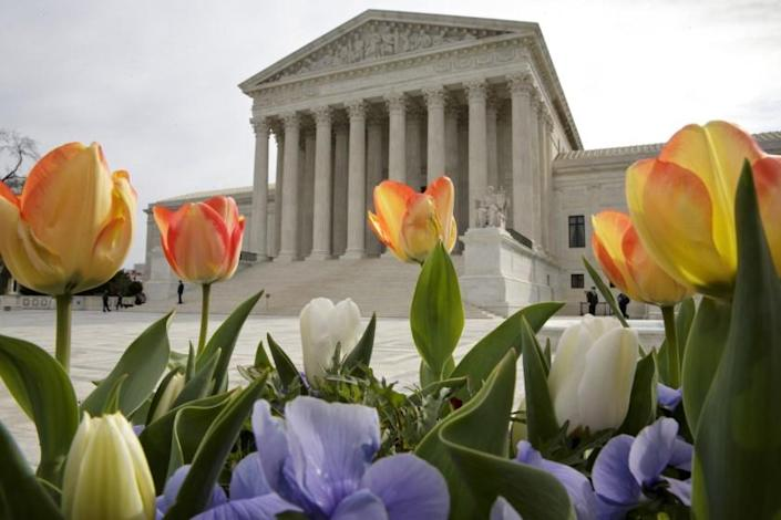 """The U.S. Supreme Court blocked a Wisconsin judge's order that would have given voters an extra week to submit primary election ballots by mail. <span class=""""copyright"""">(J. Scott Applewhite / Associated Press)</span>"""