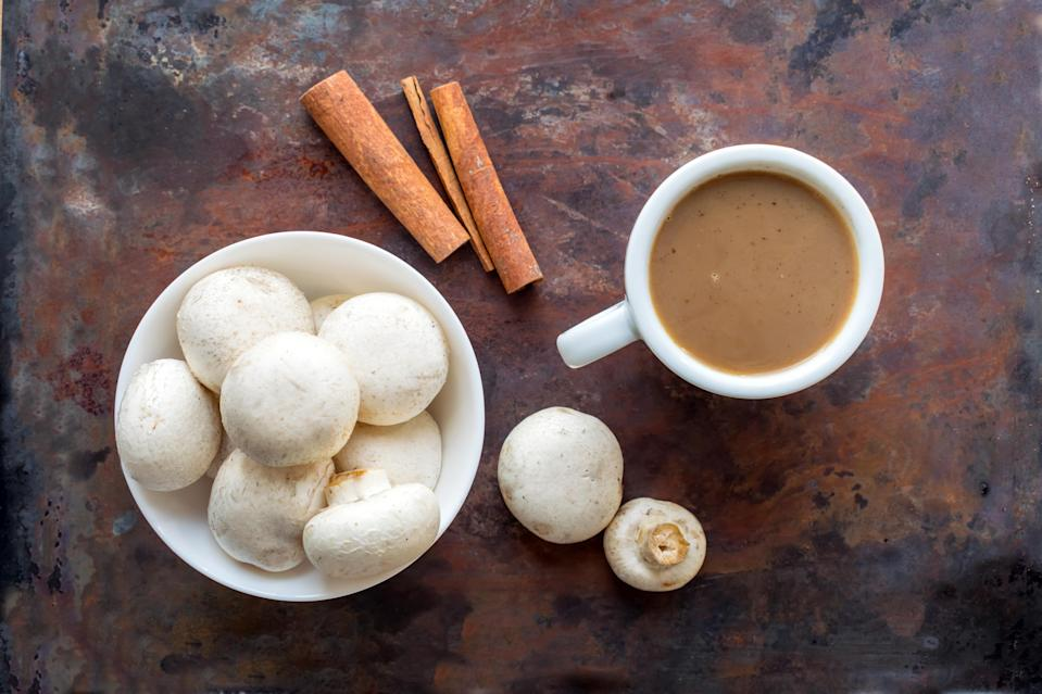 Mushrooms in coffee sound like a weird combination, but a dietitian says it's really good for you—and it tastes great.