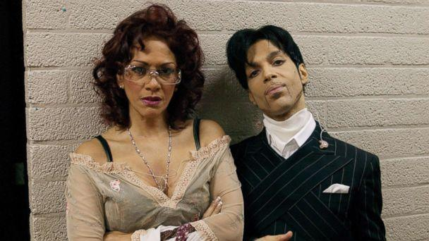 PHOTO:  Prince and Sheila E are photographed backstage on Prince's 'One Nite Alone Tour' in 2002. (Prince: A Private View/Afshin Shahidi)