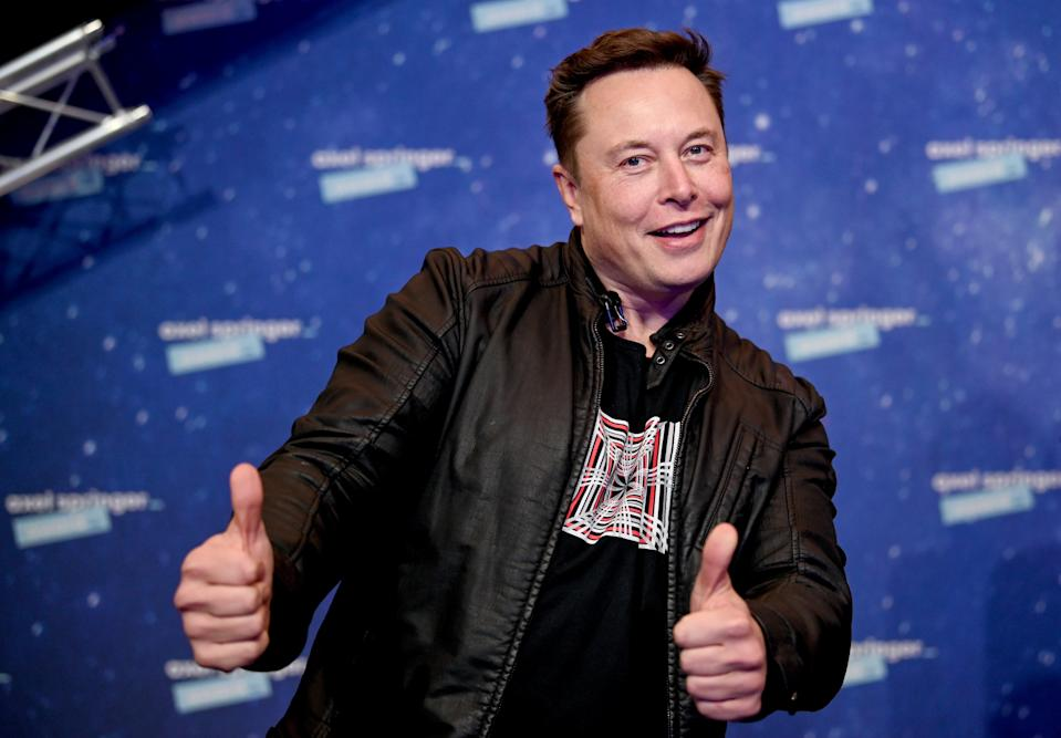 <p>SpaceX owner and Tesla CEO Elon Musk arrives on the red carpet for the Axel Springer Award 2020 on December 01, 2020 in Berlin, Germany</p> (Photo by Britta Pedersen-Pool/Getty Images)