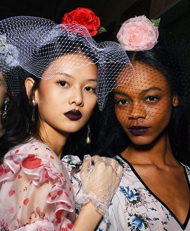 """<p>Rodarte showed an easier way to try the vampiric trend with moody bordeaux lips and flirty lashes.<br></p><p><a href=""""https://www.instagram.com/p/B9Ivlc8pqn-/"""" rel=""""nofollow noopener"""" target=""""_blank"""" data-ylk=""""slk:See the original post on Instagram"""" class=""""link rapid-noclick-resp"""">See the original post on Instagram</a></p>"""