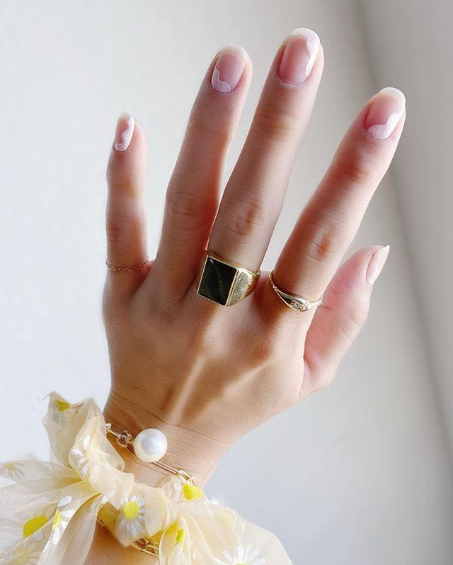 """<p>Sheer clouds floating across your nails makes for the most ethereal wedding manicure.</p><p><a href=""""https://www.instagram.com/p/CC31S1cns7U/?utm_source=ig_embed&utm_campaign=loading"""" rel=""""nofollow noopener"""" target=""""_blank"""" data-ylk=""""slk:See the original post on Instagram"""" class=""""link rapid-noclick-resp"""">See the original post on Instagram</a></p>"""