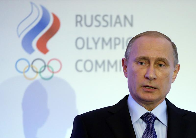 Russian President Vladimir Putin has dismissed the doping allegations against his country's athletes, calling the charges unproven and saying the suspension from the 2016 Rio Games was discrimination. (Getty)