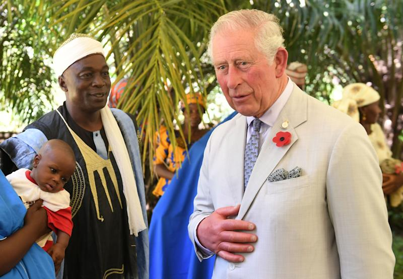 The Prince of Wales attends a rural livelihoods event in Abuja, Nigeria, on the final day of his trip to west Africa with the Duchess of Cornwall. (PA Wire/PA Images)
