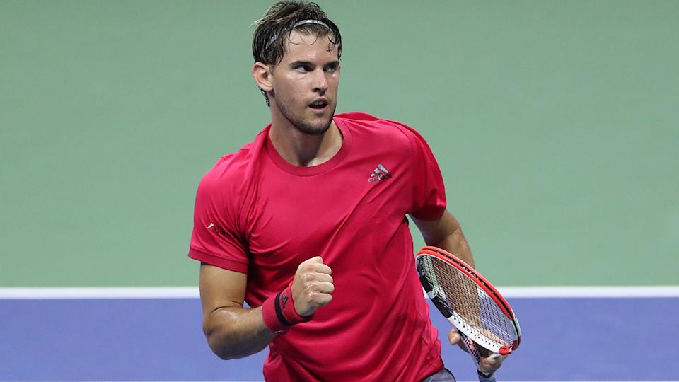 Dominic Thiem, pictured here in action against Alex de Minaur at the US Open.