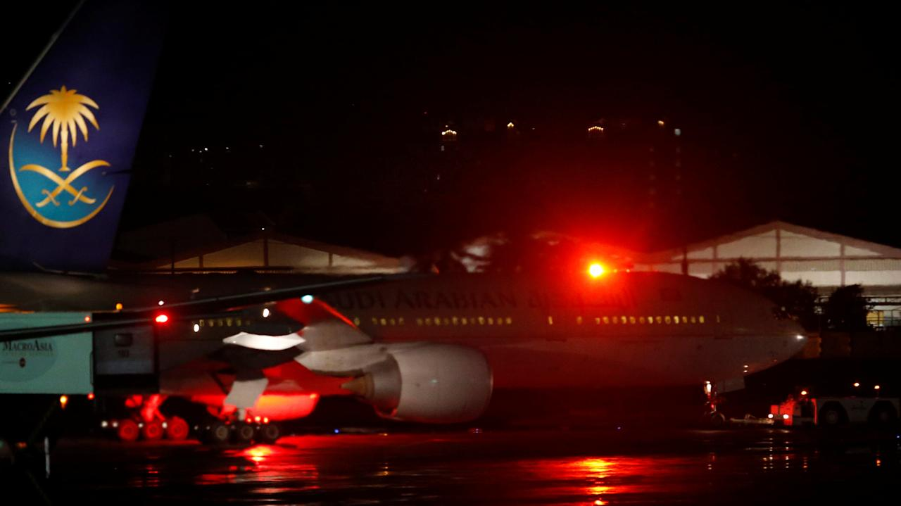 A Saudi Arabia Airlines passenger plane is towed after passengers disembarked at the tarmac of Ninoy Aquino International airport in Pasay city, Metro Manila, Philippines September 20, 2016.    REUTERS/Erik De Castro