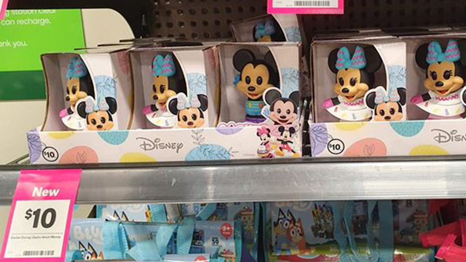 The brand new Easter Disney Micke and Minnie Mouse Ooshies are already causing a stir among Woolworths shoppers. Photo: Facebook