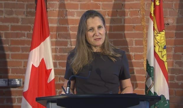 Freeland said the nation is proud of P.E.I.'s response to COVID-19. (Sheehan Desjardins/CBC News - image credit)