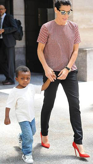 Sandra Bullock's Son Louis Doesn't Find Her Very Funny
