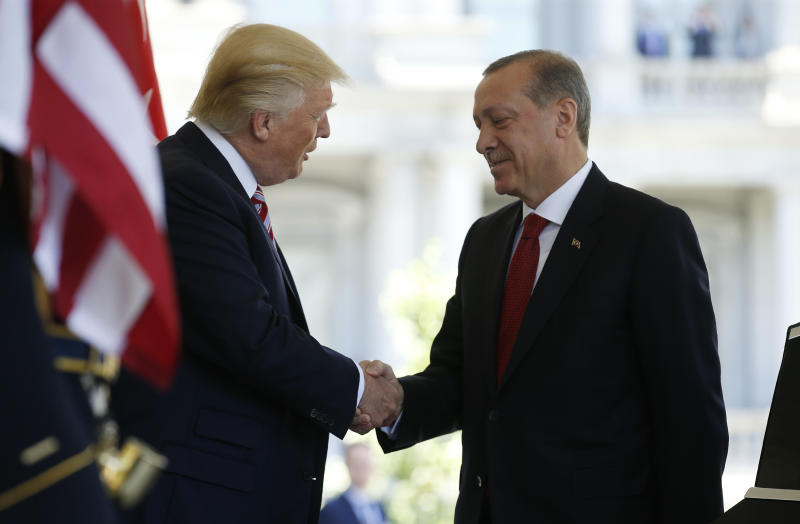 President Trump welcomed Turkey's President Recep Tayyip Erdogan to the White House in May. (Joshua Roberts / Reuters)