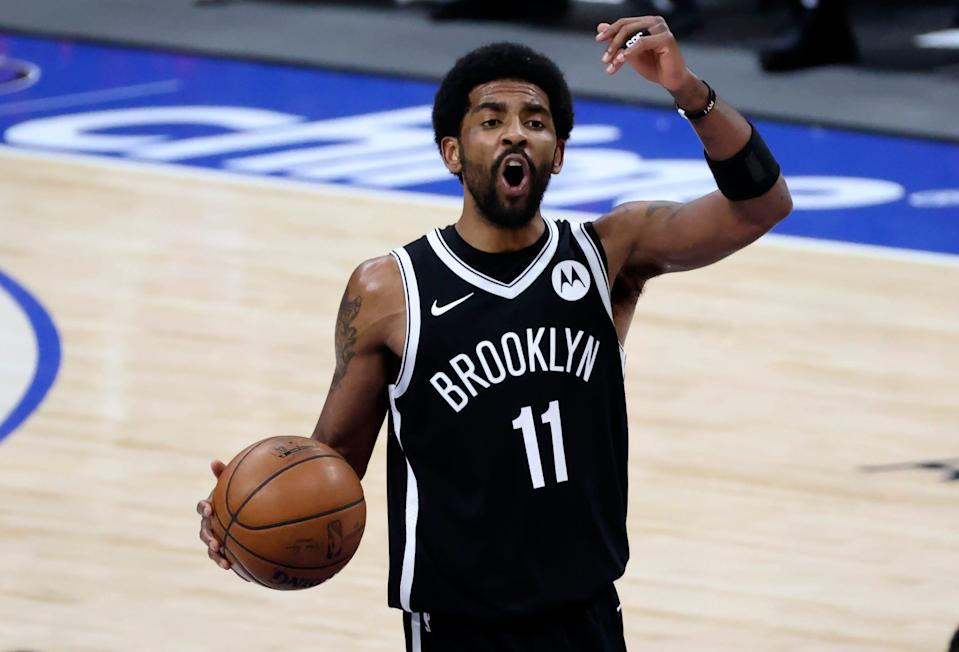 Nets guard Kyrie Irving returns to Boston for Game 3 of the first round.