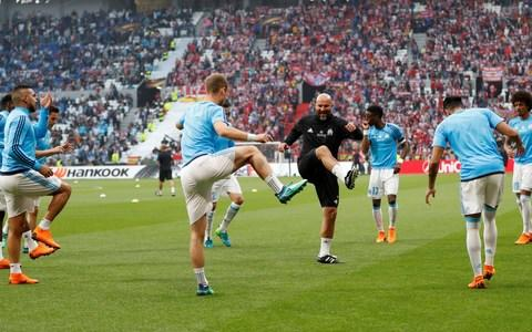 Marseille warm ups - Credit: REUTERS