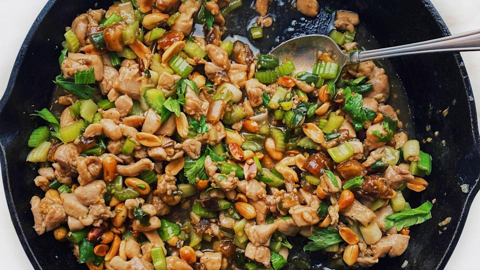 "<a href=""https://www.bonappetit.com/recipe/spicy-chicken-stir-fry-with-celery-and-peanuts?mbid=synd_yahoo_rss"" rel=""nofollow noopener"" target=""_blank"" data-ylk=""slk:See recipe."" class=""link rapid-noclick-resp"">See recipe.</a>"