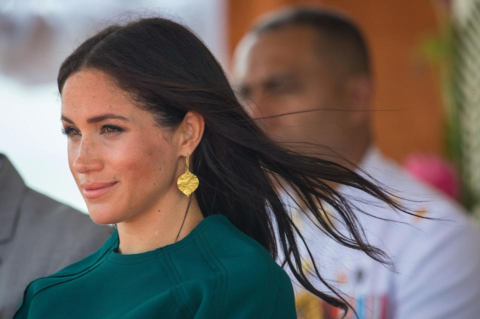 The Duchess of Sussex (pictured during the royal tour of Fiji in October 2018) is losing a second aide [Photo: PA]
