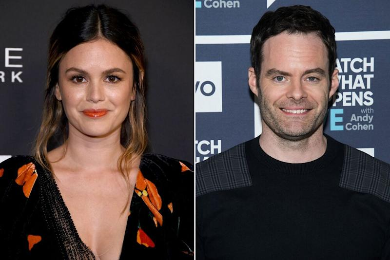 Bill Hader and Rachel Bilson confirm relationship on Golden Globes Red Carpet