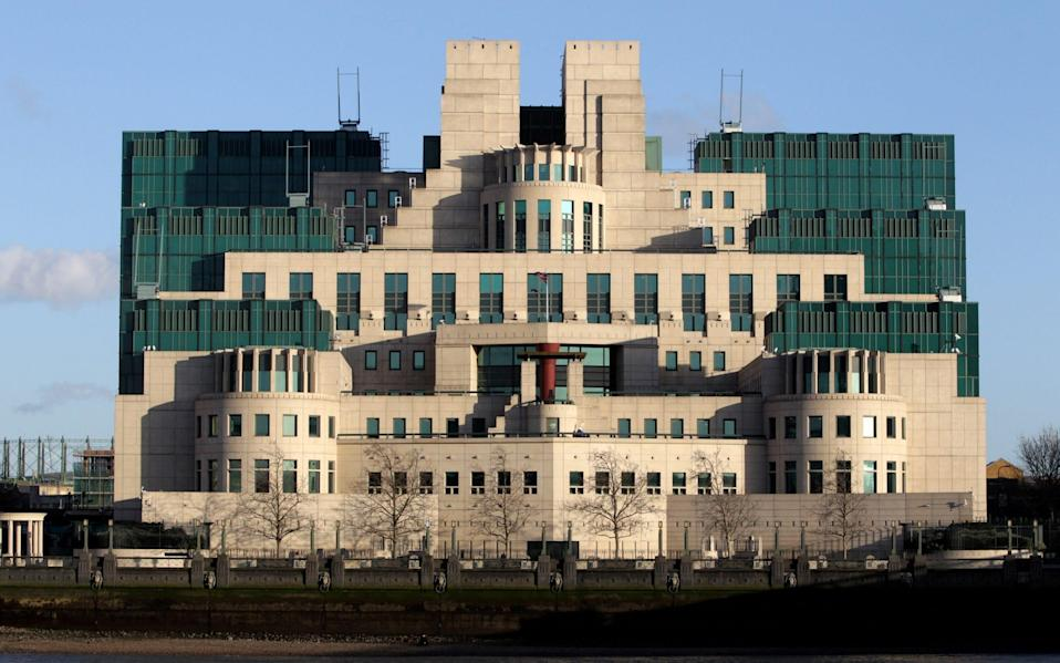 The headquarters of Britain's Secret Intelligence Service, better known as MI6, on London's south bank. - Oli Scarff/Getty Images Europe