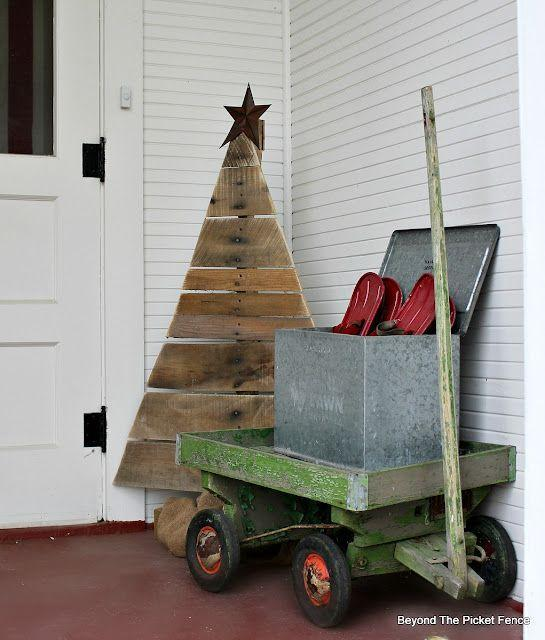 """<p>There are plenty of ways to personalize this tree, which was cut whole from a pallet that didn't have much space in between the boards. But we confess we love the homey, unfinished look.</p><p><strong>Get the tutorial at <a href=""""https://www.beyondthepicket-fence.com/2015/11/12-days-of-christmas-day-1-pallet-tree.html"""" rel=""""nofollow noopener"""" target=""""_blank"""" data-ylk=""""slk:Beyond the Picket Fence"""" class=""""link rapid-noclick-resp"""">Beyond the Picket Fence</a>.</strong></p><p><a class=""""link rapid-noclick-resp"""" href=""""https://www.amazon.com/BLACK-DECKER-Jig-Amp-BDEJS300C/dp/B00OJ72L84/ref=asc_df_B00OJ72L84/?tag=syn-yahoo-20&ascsubtag=%5Bartid%7C10050.g.23322271%5Bsrc%7Cyahoo-us"""" rel=""""nofollow noopener"""" target=""""_blank"""" data-ylk=""""slk:SHOP JIG SAWS"""">SHOP JIG SAWS</a><strong><br></strong></p>"""