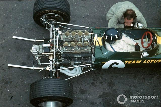 "Graham Hill, Lotus 49 Ford <span class=""copyright"">LAT Images</span>"
