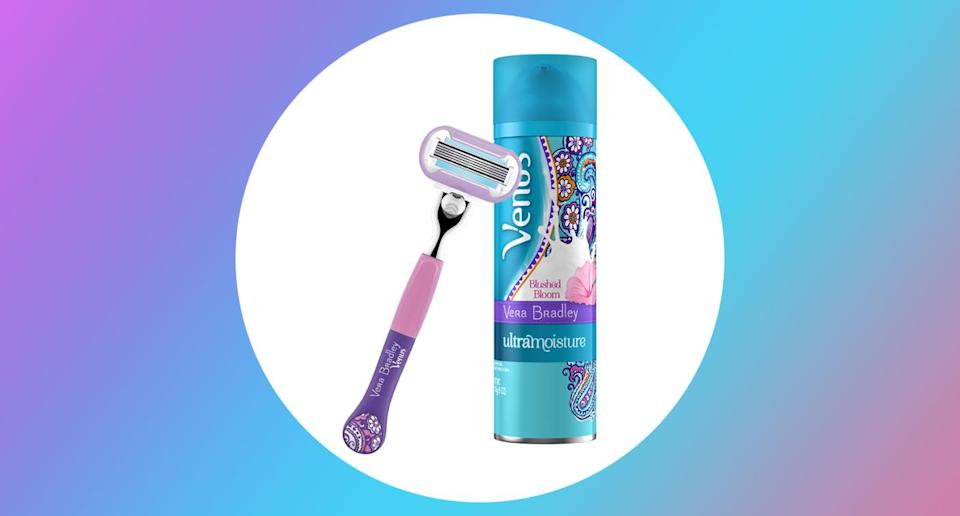 The Vera Bradley + Venus shave collection is available on April 1 at Target stores and at Target.com. (Photo: Courtesy of Gillette)