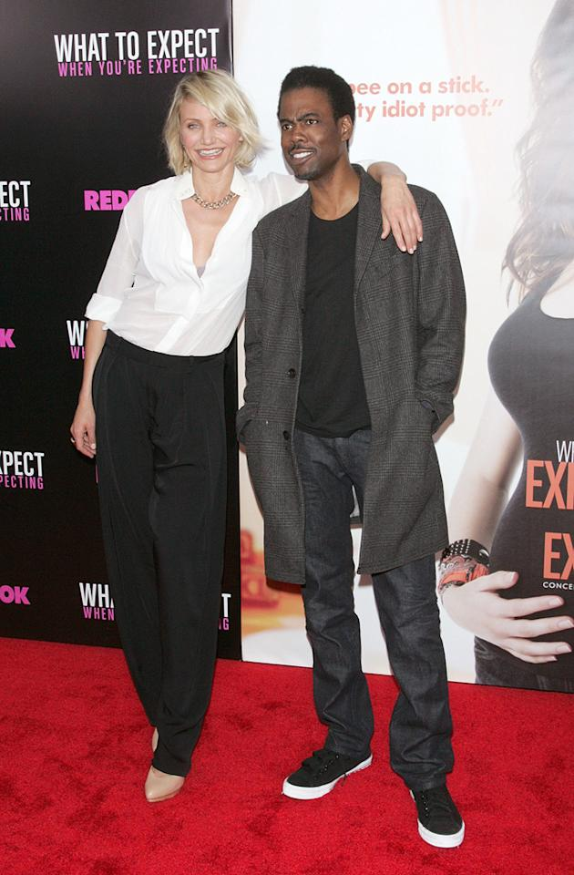 """Cameron Diaz and Chris Rock attend the New York City premiere of """"What to Expect When You're Expecting"""" on May 8, 2012"""