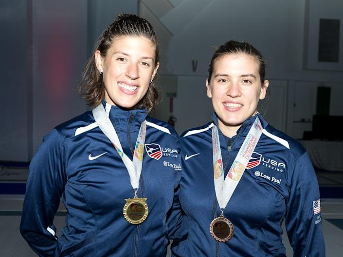 Olympic fencers Kelley and Courtney Hurley