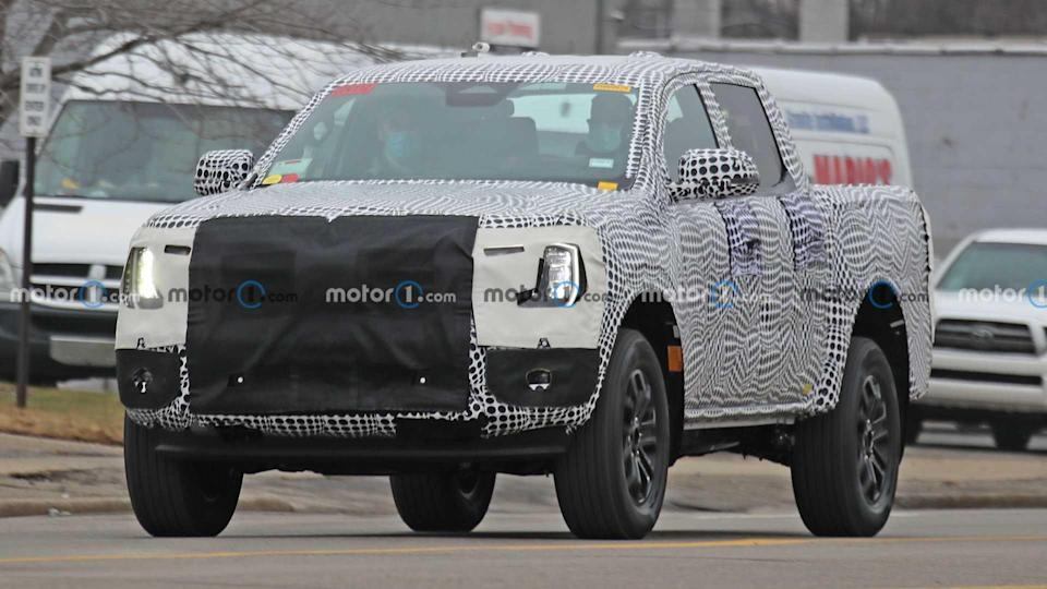 2023 Ford Ranger Front Spy Photos