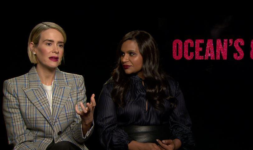 Ocean's 8 stars Sarah Paulson and Mindy Kaling call out the Ghostbusters trolls