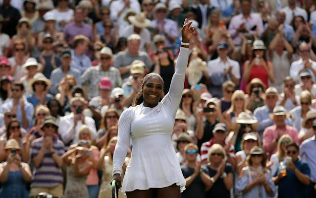 Serena Williams has reached her 30th grand slam final with victory over Julia Goerges - AP