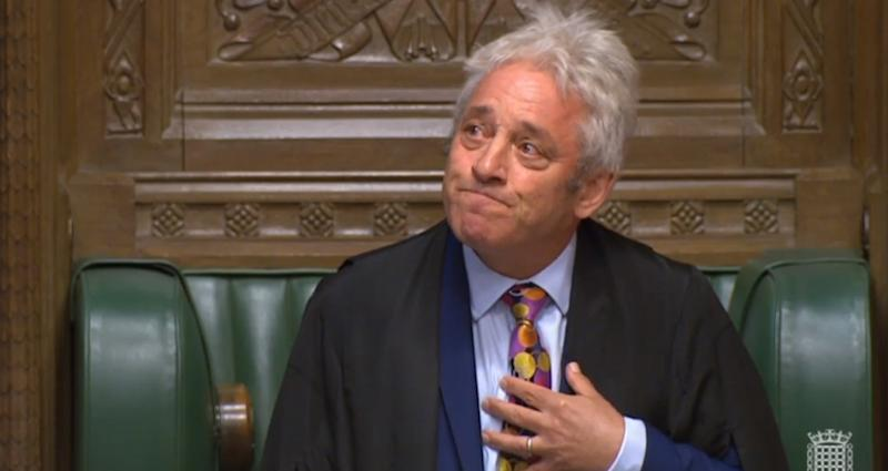 Speaker John Bercow announces that he will stand down during an an impassioned speech in the House of Commons, London. (Photo by House of Commons/PA Images via Getty Images)