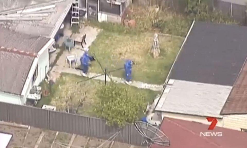 NSW Police established a crime scene at a home in Granville. Photo: 7 News