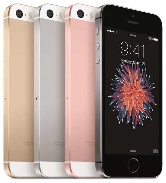 Apple's iPhone SE in four colors.