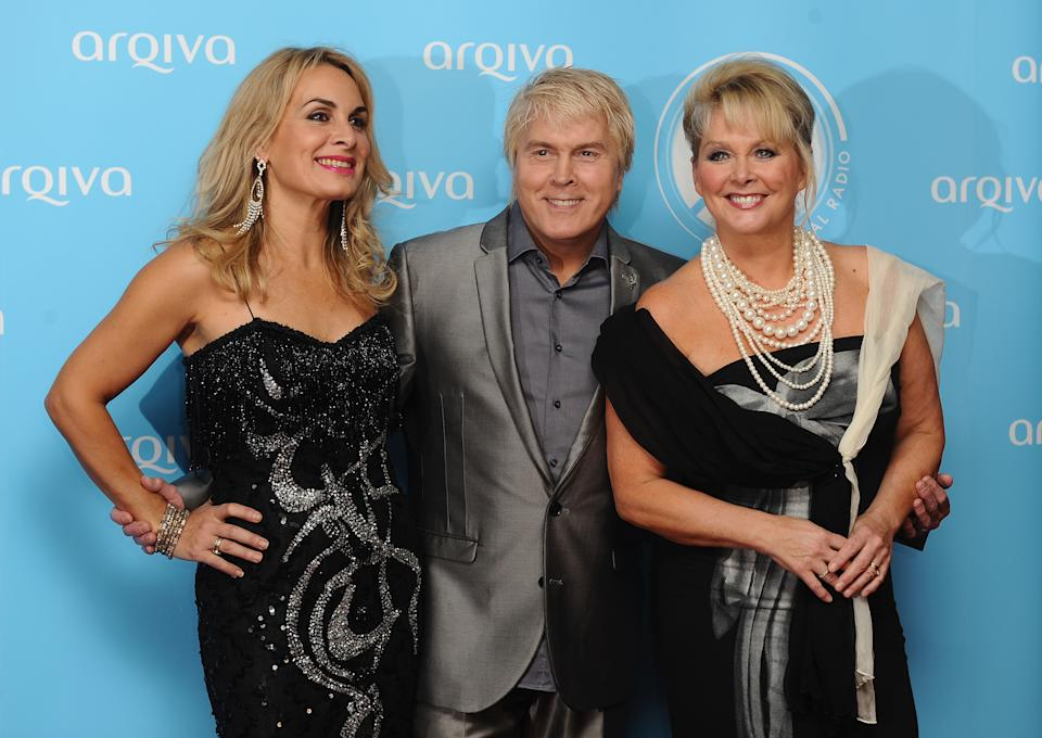 Jay Aston, Mike Nolan and Cheryl Baker  attend the Arqiva Commercial Radion Awards at Park Plaza Westminster Bridge Hotel on July 3, 2013 in London, England.  (Photo by Ferdaus Shamim/WireImage)