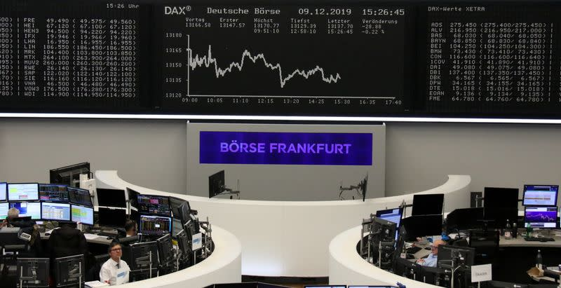 Possible tariff delay lifts European shares off session lows