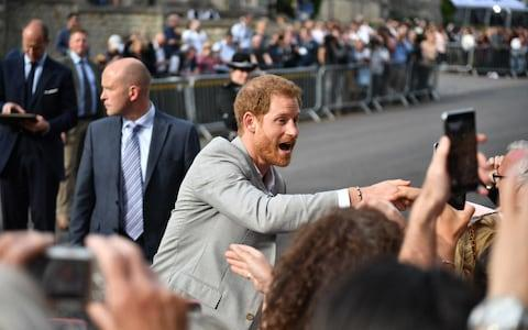 Prince Harry meeting the crowds - Credit: Ben Cawthra/London News Pictures Ltd