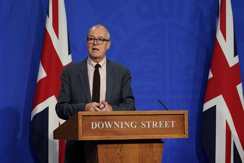 Chief scientific adviser Sir Patrick Vallance during a media briefing in Downing Street (Alberto Pezzali/PA) (PA Wire)