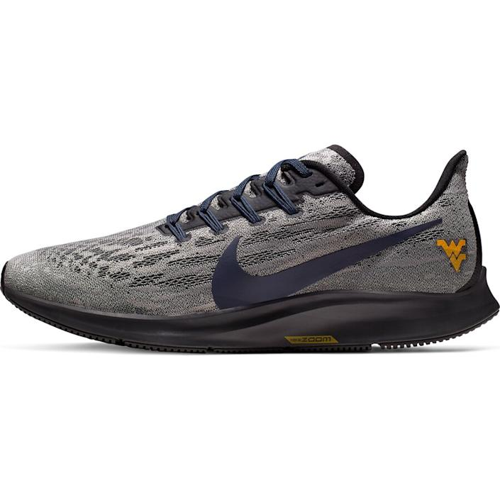 Men's Nike Gray/Navy West Virginia Mountaineers Air Zoom Pegasus 36 Sneakers