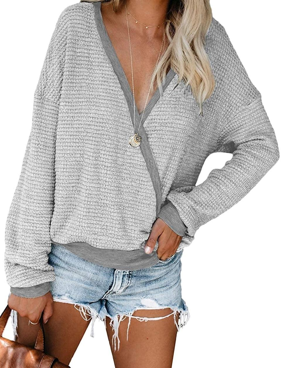 <p><span>NSQTBA V-Neck Sweater</span> ($22, originally $26)</p>