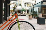 """<p>There's more than a million cycling routes built in to this app, so you can do your bit for the environment (and discover hidden gems on your doorstep) by leaving your car at home and hopping on your bike.</p><p>With voice navigation built-in, you won't have to worry about getting lost. </p><p><a rel=""""nofollow noopener"""" href=""""https://www.bikemap.net/"""" target=""""_blank"""" data-ylk=""""slk:DOWNLOAD NOW"""" class=""""link rapid-noclick-resp"""">DOWNLOAD NOW</a></p>"""