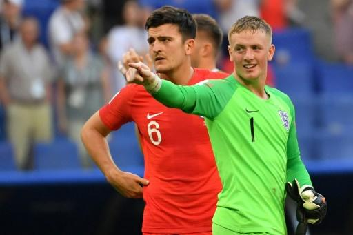 Number one: Jordan Pickford became the youngest English goalkeeper to keep a clean sheet at a World Cup