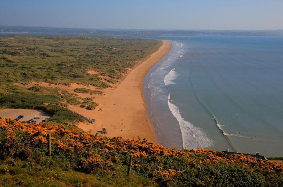 "<p>Dog-friendly beach Saunton Sands is situated at the heart of the North Devon Biosphere Reserve and is a true sight to behold. 3.5 miles of sandy beaches will ensure even the most boisterous of dogs has used up their energy reserves by the end of the visit. </p><p>It stretches north to south from the cliffs of Saunton to the Taw-Torridge Estuary, so stunning scenery can be expected.</p><p><strong>Where to stay: </strong><a href=""https://go.redirectingat.com?id=127X1599956&url=https%3A%2F%2Fwww.booking.com%2Fhotel%2Fgb%2Fthe-hideout.en-gb.html%3Faid%3D2070935%26label%3Ddog-friendly-beaches&sref=https%3A%2F%2Fwww.countryliving.com%2Fuk%2Ftravel-ideas%2Fdog-friendly%2Fg35163642%2Fdog-friendly-beaches%2F"" rel=""nofollow noopener"" target=""_blank"" data-ylk=""slk:The HideOut"" class=""link rapid-noclick-resp"">The HideOut</a> offers pet-friendly self-catering accommodation in Braunton, and means that after a long day of walking you can spread and relax in your own space, without having to worry about leaving your dog in your room when going down for dinner. </p><p><a class=""link rapid-noclick-resp"" href=""https://go.redirectingat.com?id=127X1599956&url=https%3A%2F%2Fwww.booking.com%2Fhotel%2Fgb%2Fthe-hideout.en-gb.html%3Faid%3D2070935%26label%3Ddog-friendly-beaches&sref=https%3A%2F%2Fwww.countryliving.com%2Fuk%2Ftravel-ideas%2Fdog-friendly%2Fg35163642%2Fdog-friendly-beaches%2F"" rel=""nofollow noopener"" target=""_blank"" data-ylk=""slk:CHECK PRICES"">CHECK PRICES</a></p>"