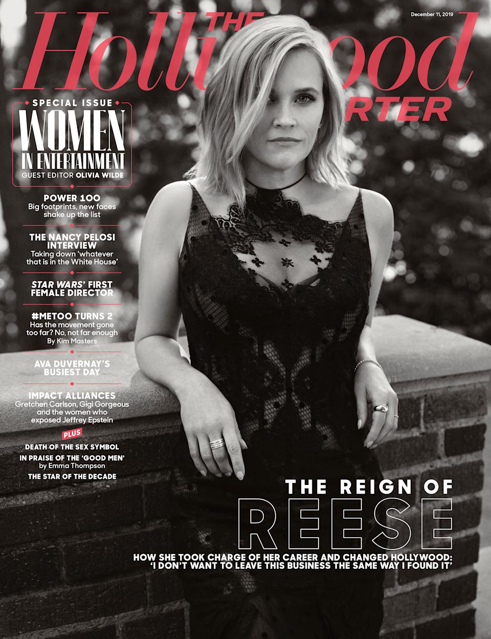 Reese Witherspoon covers The Hollywood Reporter's Women in Entertainment issue. (Photo: The Hollywood Reporter)
