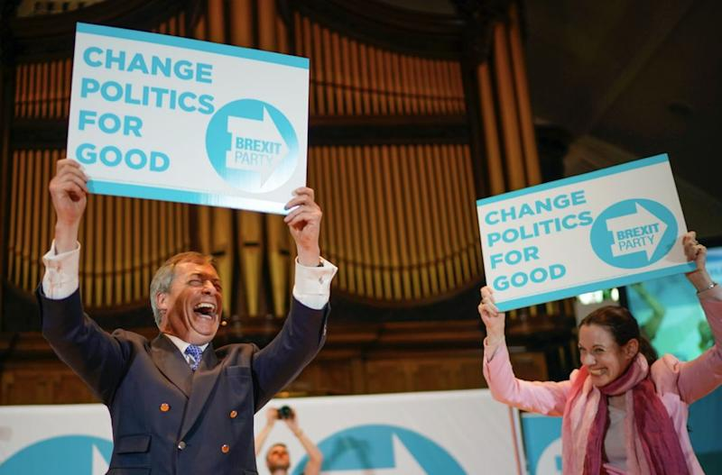 The sister of Jacob Rees-Mogg was announced as a candidate for the Brexit Party at the launch of the EU election campaign (Getty)