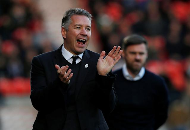 Soccer Football - FA Cup Second Round - Doncaster Rovers vs Scunthorpe United - Keepmoat Stadium, Doncaster, Britain - December 3, 2017 Doncaster Rovers Manager Darren Ferguson Action Images/Craig Brough