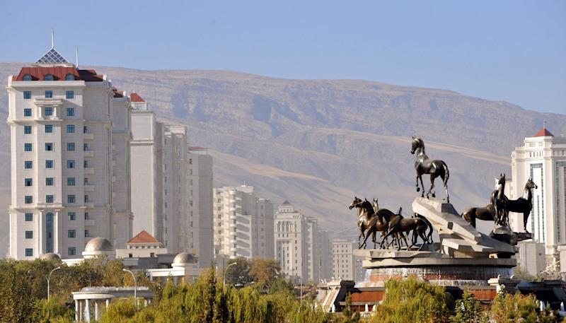 A view of Turkmenistan's capital Ashgabad. The energy-rich former Soviet republic has devalued its currency against the US dollar by 18 percent