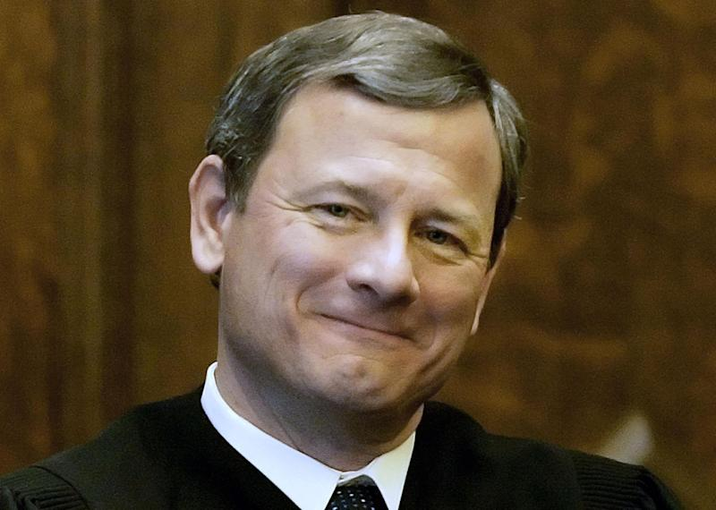 FILE - In this Feb. 12, 2008, file photo, Chief Justice John G. Roberts, Jr., is seen in Providence, R.I. Turned away at the Supreme Court, congressional Republicans sketch a filibuster-proof strategy to repeal the nation's health care law in 2013. But it hinges on two uncertainties _ Mitt Romney capturing the White House and the party seizing even narrow control of the Senate.  (AP Photo/Stephan Savoia, File)